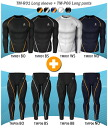 High-performance underwear round neck long sleeve 2 piece set (top and bottom set or on two cards)