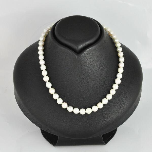 シルバー アコヤ真珠 ネックレス
