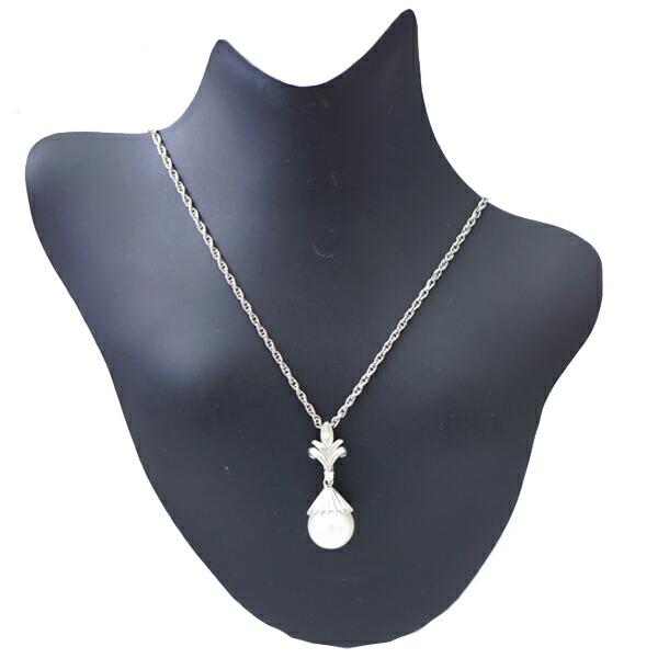 Pt900 Pt850 パール ダイヤモンド ネックレス