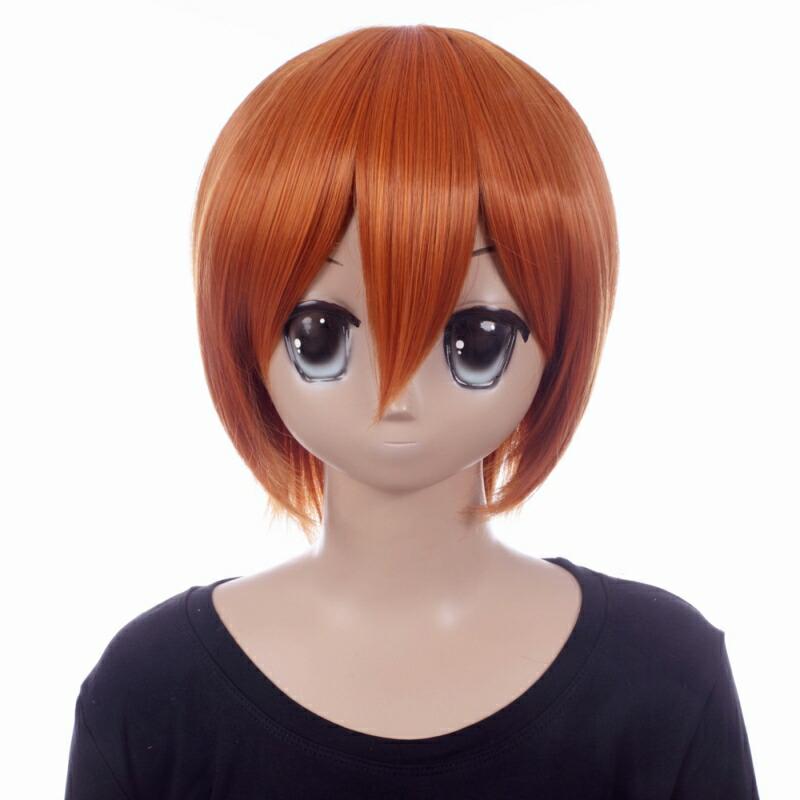 富士達オリジナル・ショートウィッグ オレンジ フォックスブラウン