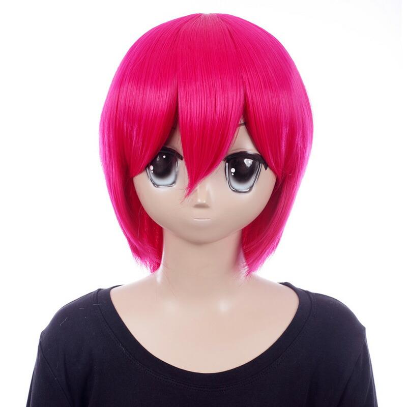富士達オリジナル・ショートウィッグ ピンク ストロベリーソーダ