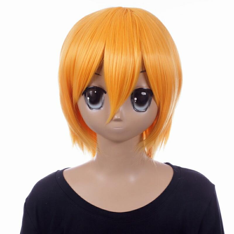 富士達オリジナル・ショートウィッグ オレンジイエロー