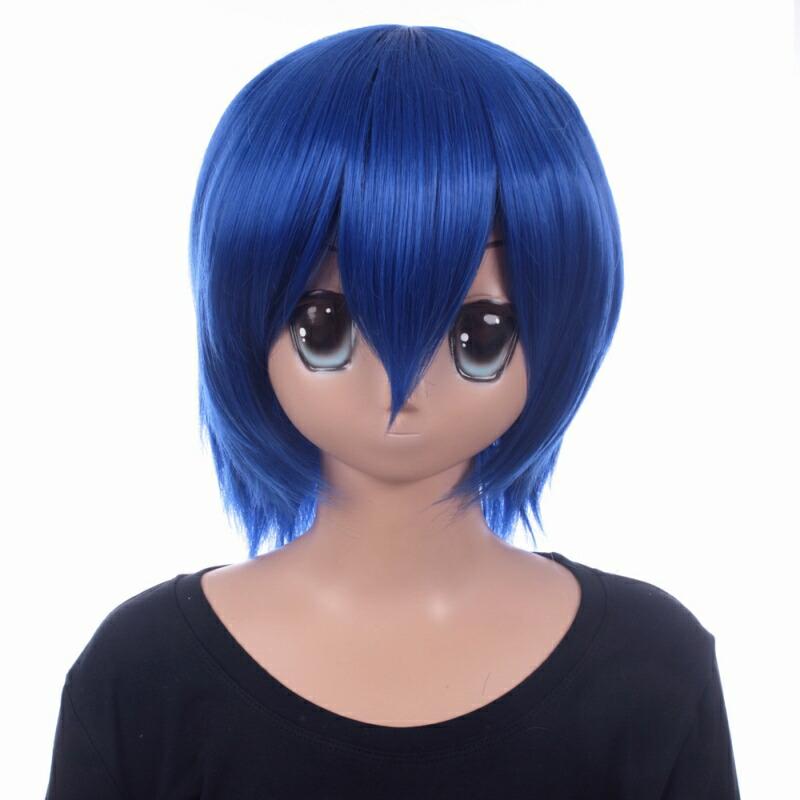富士達オリジナル・ショートウィッグ 青 プルシアンブルー