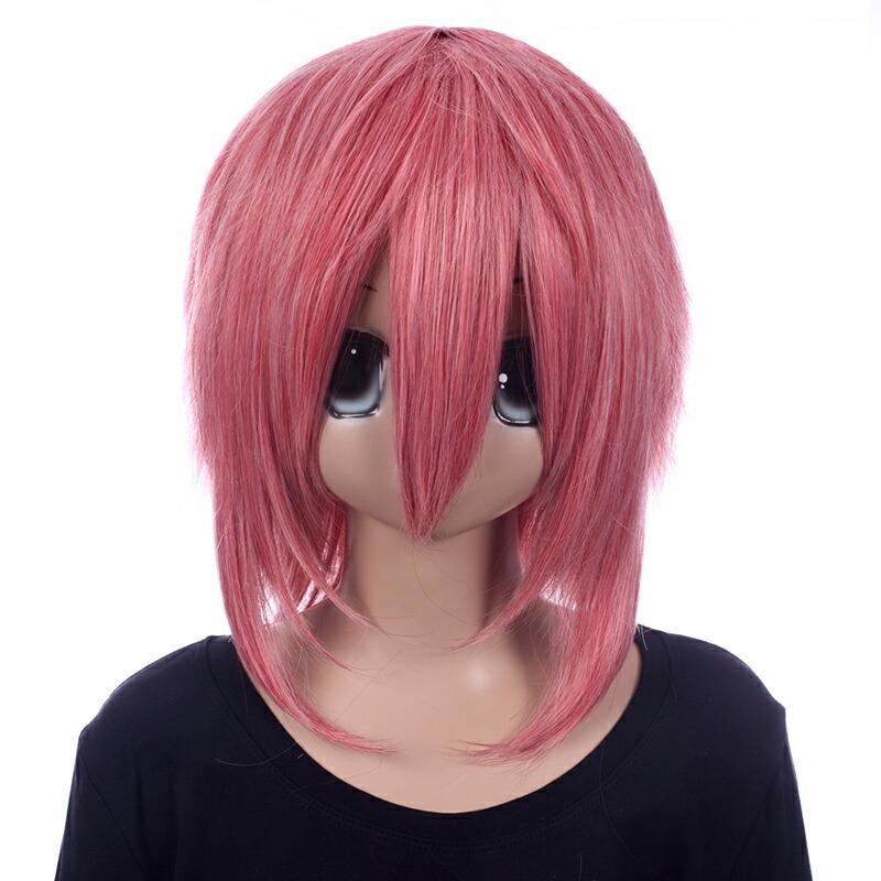 富士達オリジナル・ウルフウィッグ ピンク ローズピンク