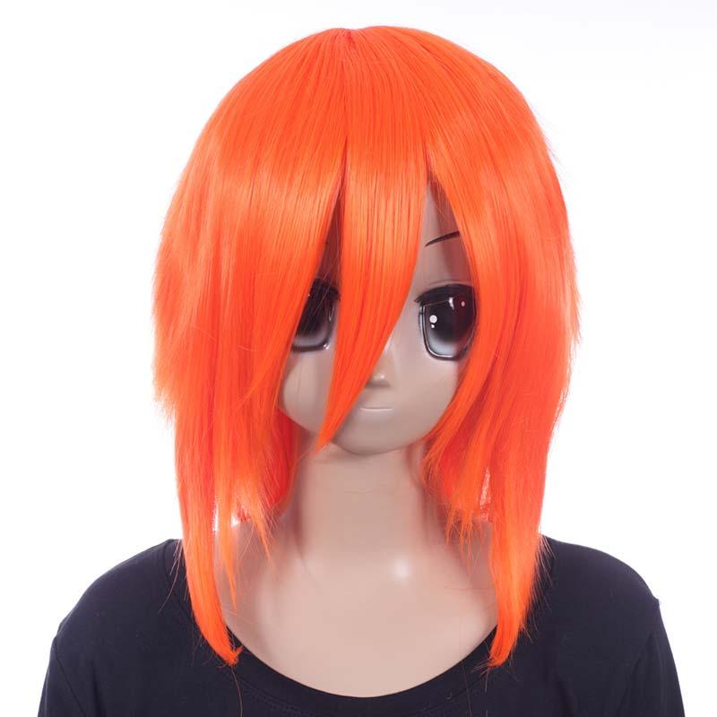 富士達オリジナル・ウルフウィッグ オレンジ ヴァーミリオン