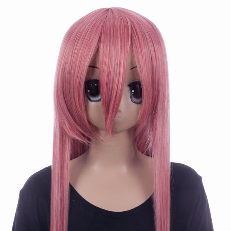 富士達オリジナル・ロングウィッグ ピンク ローズピンク