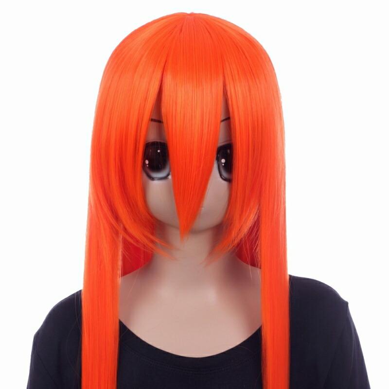 富士達オリジナル・ロングウィッグ オレンジ ヴァーミリオン