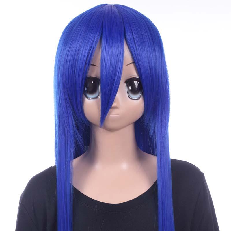富士達オリジナル・ロングウィッグ 青 コズミックブルー