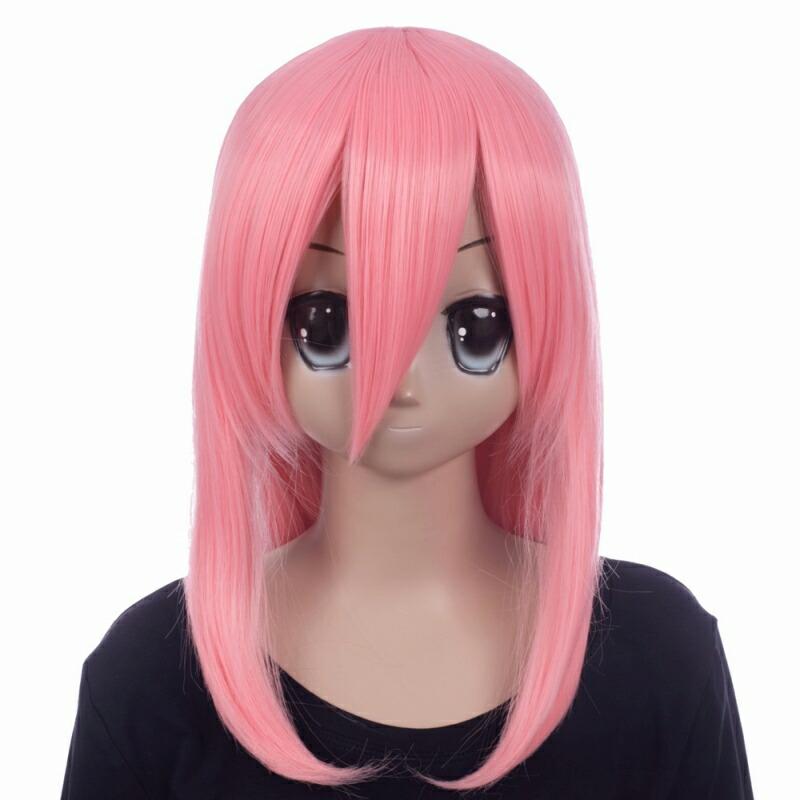 富士達オリジナル・ミディアムウィッグ ピンク キューピッドピンク