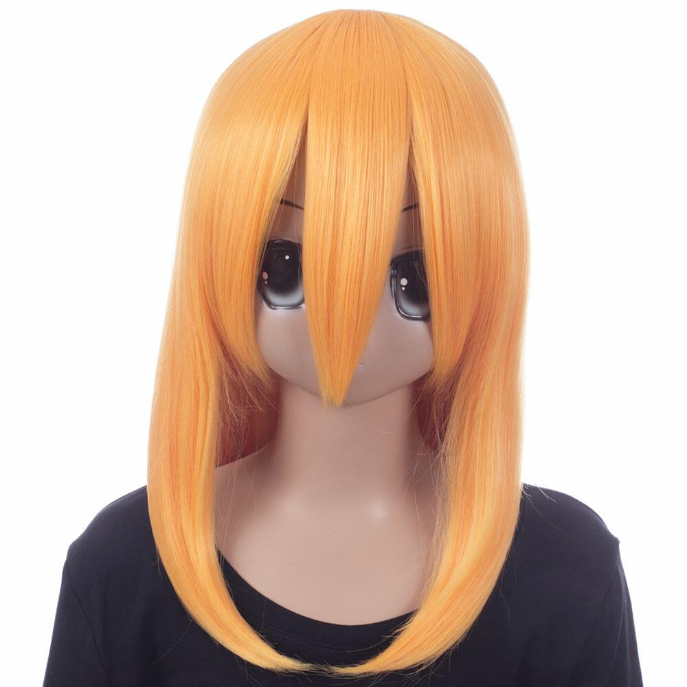 富士達オリジナル・ミディアムウィッグ オレンジイエロー