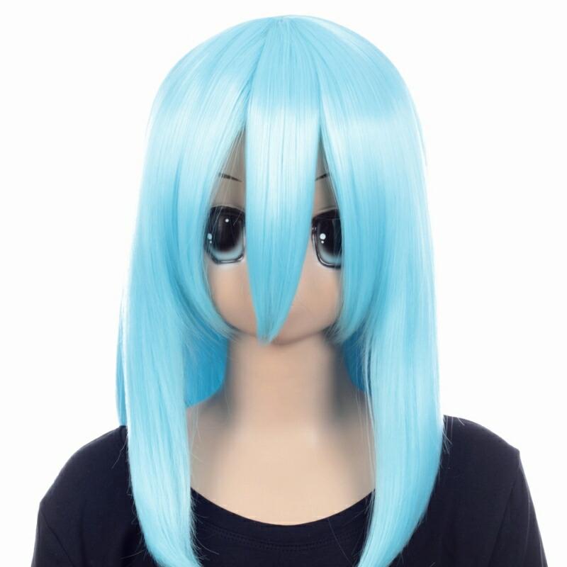 富士達オリジナル・ミディアムウィッグ 青 インペリアルブルー
