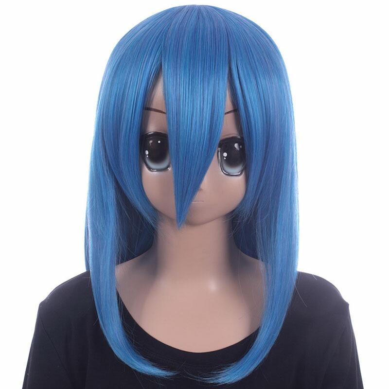 富士達オリジナル・ミディアムウィッグ 青 コバルトブルー
