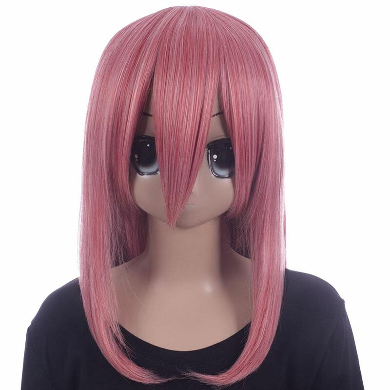 富士達オリジナル・ミディアムウィッグ ピンク ローズピンク