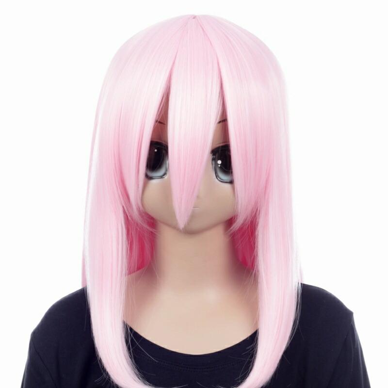 富士達オリジナル・ミディアムウィッグ ピンク サクラ