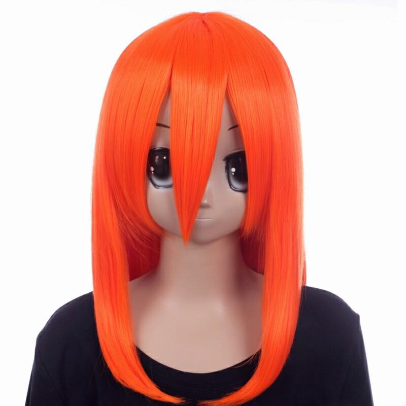 富士達オリジナル・ミディアムウィッグ オレンジ ヴァーミリオン