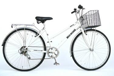 ... カゴ付クロスバイク自転車D