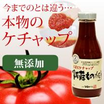 どっちの料理ショーなど多数TV番組でご紹介!添加物防腐剤不使用。阿蘇で育てられたトマトをたっぷり使った美味しいトマトケチャップです。安心の無添加本物のケチャップ