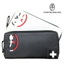 A Castelbajac pansee Castelbajac round fastener long wallet: It is CASTELBAJAC PENSEE/ head wallet wallet 059614