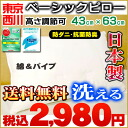 Nishikawa basic pillow washable pillow わた & half pipe antibacterial / deodorization / tick 43 X 63cmfs3gm-proof