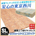 Three mattress single (97*210cm) buckling up mail order Rakuten [fs04gm] hard for three three 170 Tokyo Nishikawa entire surface Newton mattresses fold domestic production fold