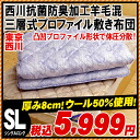 Three levels of domestic Nishikawa / Tokyo Nishikawa thickness approximately 8cm antibacterial deodorization cloth use wool blend type profile 固綿敷 comes; futon (100*210cm:) Spread ぶとん / with futon / mattress / bed / with single long) mattress / floor flo