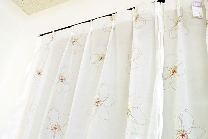 仿真丝窗帘布欧式图案窗帘绣花纱客厅窗帘定做-|网购