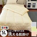 Washable futon / domestic production thin quilt ダクロンクォロフィル plain fabric thin quilt / skin futon (single long /150 *210cm)
