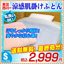 Nishikawa / skin futon / thin quilt feeling of cold blanket / feeling of cold material use soft cool skin credit futon thin quilt bedcover single (140*190cm) that cold water んやり Tokyo Nishikawa is chilly when I touch it
