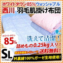 Nishikawa down skin duvet / quilt / comforters skin East West Nanjing River sanitization sanitary processing washable white down 85% 0.2 kg skin duvet quilt single long