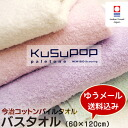 Domestic Imabari towel / Imabari produced new bio scouring processing KuSu POP paletone cotton pile bath towel (60 x 120 cm) /towel taoru / towel / bath towel/prolong taoru