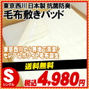 [Nishikawa blanket domestically is 61% : East West Nanjing River antibacterial deodorant machining アクリルマイヤー blanket kneeling pad single ( 100 x 205 cm ) white