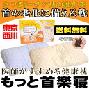East no.1225 River / Nishikawa doctors recommend health pillow ' more neck 楽寝 ' approximately 54 x 33 cm? s tags, boxes and side fabric size notation: approx. 58 x 35 cm. pillow / pillow /pillow hulls pillows buckwheat / made in Japan / stiff neck