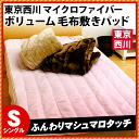 Tokyo Nishikawa hair Nunoshiki pad single (pat / micro fiber / plain fabric color / warm / blanket / fall and winter with pad / with floor floor)