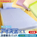 "Pat with pad / with domestic romance ""ice sleep EX"" cold water んやり cool feeling pad (single size /100 *205cm) cooling mat / cool pad / contact feeling of cold / cool feeling / アイスミン / with floor floor floor"