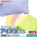"Is for the cool mat / pillows of the equal in the domestic romance ""ice sleep EX/ アイスミン"" chilly cool feeling pillow pad (pillow pad) 63*43cm contact feeling of cold / cooling mat / out last; spread; a pad"