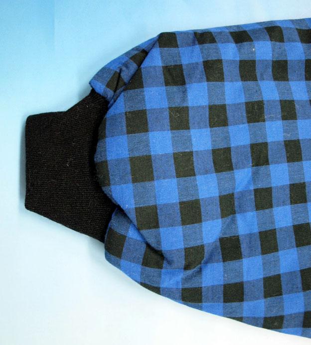 袖リブ半纏の袖