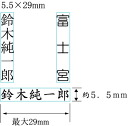 Line marking 5.5 mm x 29 mm