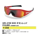 Sports sunglasses swans SWANS titanium red GRI-01M SHD