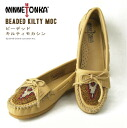 Minnetonka / Minnetonka beaded kirtimocacin / beads / Womens /BEADED KILTY MOC/630 SERIES / genuine