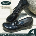 Regeta/ リゲッタクロスベルトエナメルパンプス /3cm low heel /GR-31/ canoe