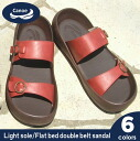 Canoe canoe sandals light sole double belt flatbed /light/ men /CL1106/ リゲッタ /fs3gm