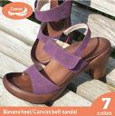 Canoe カヌーサンダルバナナヒール canvas belts Womens /BN108 / regatta