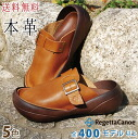 [/ リゲッタ made in real leather sabot / clog /CJBF-5184/ Japan with the exchange re-]RegettaCanoe canoe big sole belt]