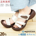 / リゲッタ made in RegettaCanoe canoe egg heel double Velcro sandals /CJEG-5215/ Japan