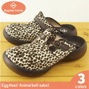 / リゲッタカヌー formula / leopard, giraffe cheetah pattern made in RegettaCanoe egg heel / animal sabot sandals /CJEG-5291/ Japan