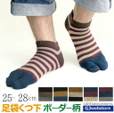 Each ボーダーアンクル socks / tabi socks / socks / Japan made