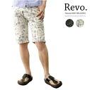 Revo コットンペイズリー shorts and black, natural/mens