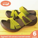 Canoe canoe エッグヒールキャンバスクロス belt sandal / ladies regatta EH101-04 made in Japan
