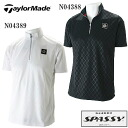 TaylorMade tailor maid S/S emboss zip mock 《 Performance 》 SY374