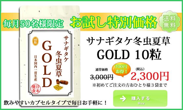 サナギタケ冬虫夏草(カプセル)GOLD お試し10粒